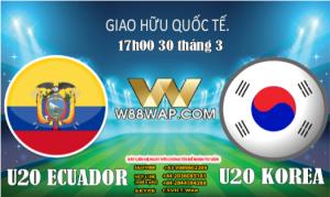 Read more about the article 17g00ngày 30/3: U20 Ecuador vs U20 Hàn Quốc