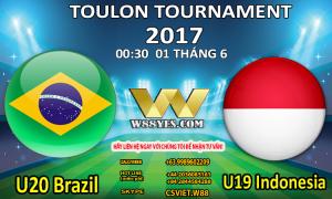 SOI KÈO: 00:30 NGÀY 01/6: U20 Brazil vs U19 Indonesia.