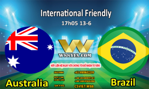 SOI KÈO : 17h05 ngày 13/6: Australia vs Brazil.