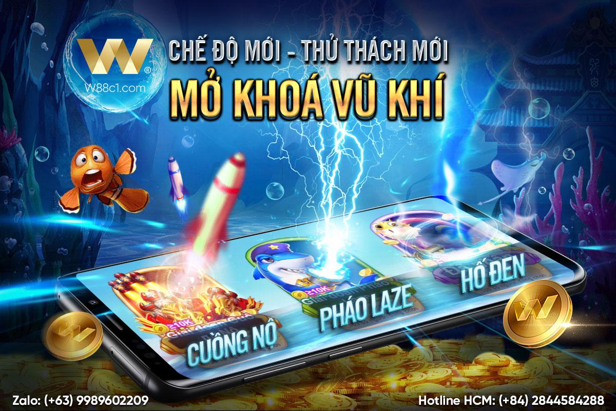 Read more about the article RA MẮT 3 PHÒNG CHƠI MỚI ĐẦY HẤP DẪN TẠI BẮN CÁ ĐỔI THƯỞNG W88