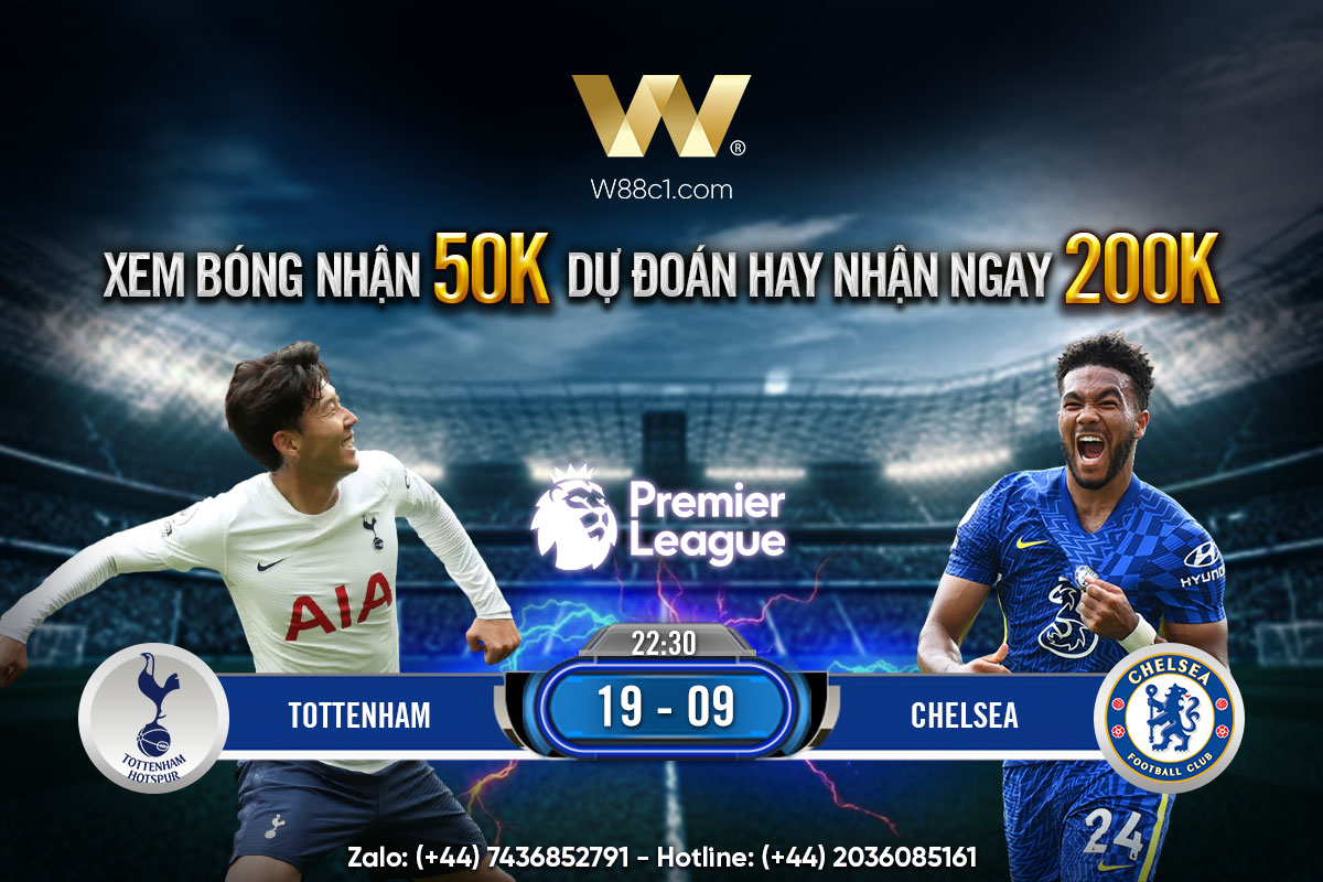 Read more about the article [W88 – MINIGAME] TOTTENHAM – CHELSEA | NGOẠI HẠNG ANH | DERBY THÀNH LONDON