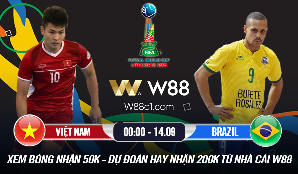 Read more about the article W88 – MINIGAME] VIỆT NAM – BRAZIL | FIFA FUTSAL WORLD CUP 2021 | THỬ THÁCH CỰC ĐẠI