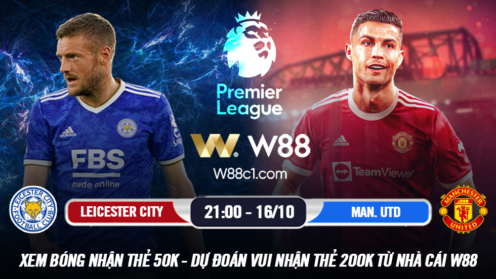 Read more about the article [W88 – MINIGAME] LEICESTER CITY – MANCHESTER UNITED | NGOẠI HẠNG ANH | ĐI DỄ KHÓ VỀ